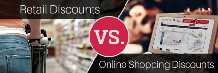 Compare Retail Discounts VS Online Shopping Store Discounts