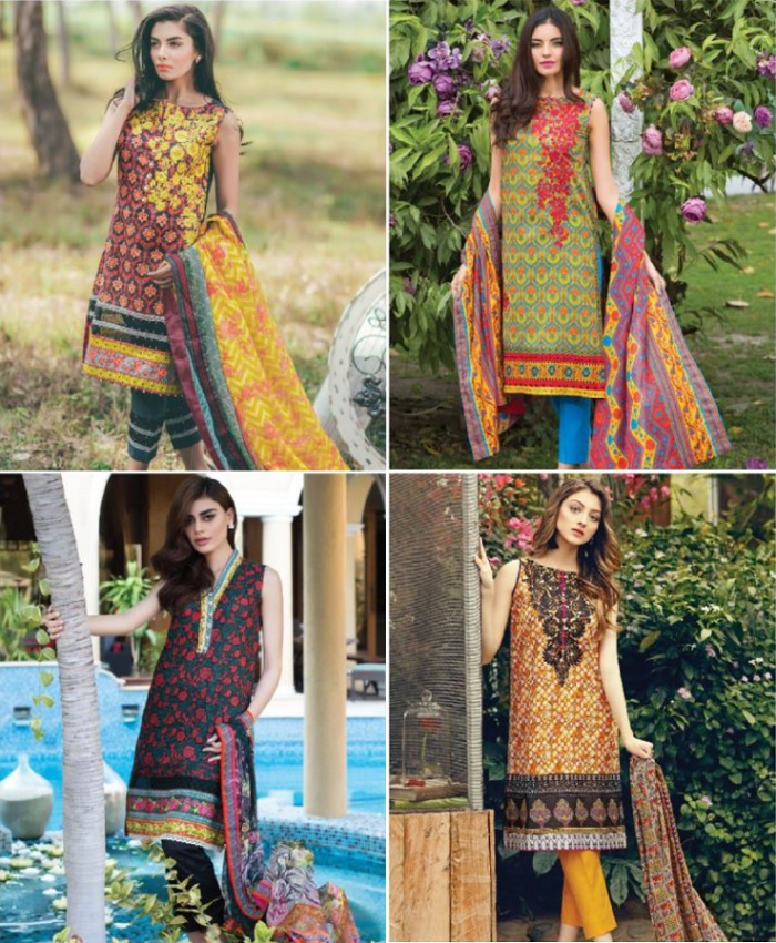 Al Karam Lawn Collection 2017