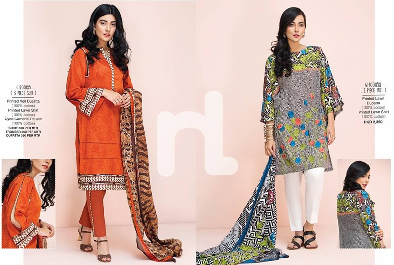 Nishat Linen Lawn Suits 2017