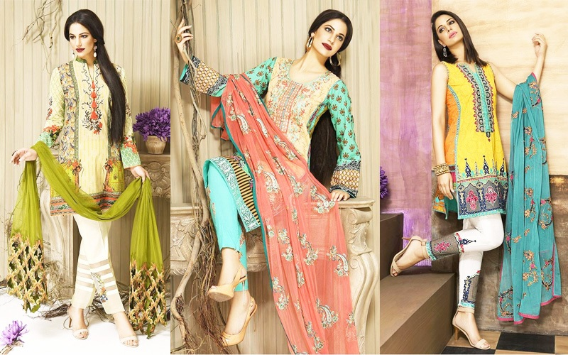 Latest Lawn Dresses 2017