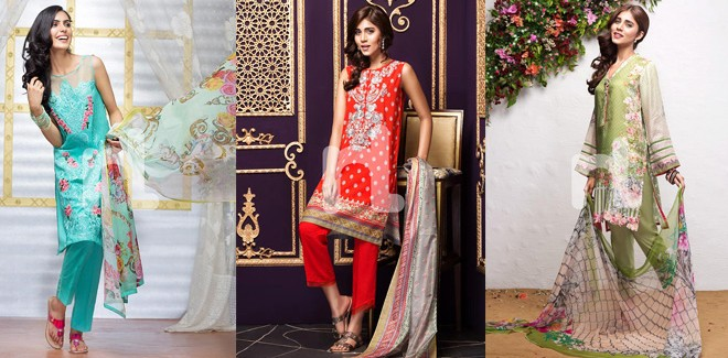 Latest Nisha Eid Festive Lawn Collection 2017 by Nishat Linen